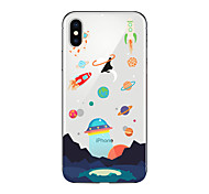 cheap -Case For Apple iPhone X iPhone 8 Plus iPhone 5 Case iPhone 6 iPhone 7 Translucent Pattern Back Cover Cartoon Soft TPU for iPhone X iPhone