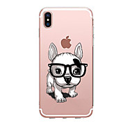 baratos -Capinha Para Apple iPhone X iPhone 8 Transparente Estampada Capa traseira Cachorro Macia TPU para iPhone X iPhone 8 Plus iPhone 8 iPhone