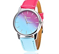 cheap -Women's Quartz Wrist Watch Chinese Casual Watch PU Band Casual Dress Watch Fashion Blue Red Pink Fuchsia