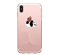 cheap -Case For Apple iPhone X iPhone 8 iPhone 8 Plus Ultra-thin Transparent Pattern Back Cover Panda Soft TPU for iPhone X iPhone 8 Plus iPhone