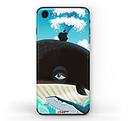 cheap -1 pc Skin Sticker for Scratch Proof Oil Painting Pattern Matte PVC iPhone 7