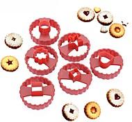 Недорогие -Многофункциональный куттер-резак для торта, украшающий помадные конфеты, плесень, ликер, печенье, набор из 6