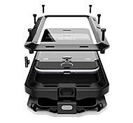 Недорогие -Кейс для Назначение Apple iPhone X iPhone 8 Plus Вода / Грязь / Надежная защита от повреждений Чехол броня Твердый Металл для iPhone X