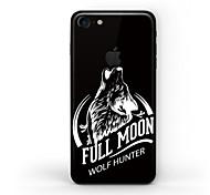 Недорогие -1 ед. Наклейки для Защита от царапин Черный и белый Узор Матовое стекло PVC iPhone 7