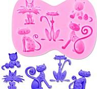 Недорогие -Формы для пирожных Кошка конфеты Для Cookie Для торта Cupcake Печенье силикагель Своими руками День Благодарения День Святого Валентина