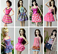 cheap -Princess Costumes For Barbie Doll Polyester Skirts Top Dress Pants For Girl's Doll Toy