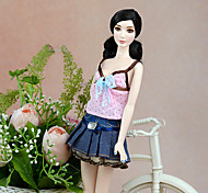 cheap -Cute Dress For Barbie Doll Polyester Dress For Girl's Doll Toy