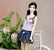 Недорогие -Очаровательный Платье Для Кукла Барби Полиэстер Платье Для Девичий игрушки куклы