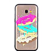 Недорогие -Кейс для Назначение SSamsung Galaxy A8 2018 A8 Plus 2018 Прозрачный С узором Рельефный Кейс на заднюю панель Продукты питания Твердый ПК