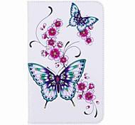 Недорогие -держатель карты бабочки с держателем с магнитной сумкой из полиуретана с кожаной сумкой с рисунком для Samsung Galaxy Tab 8,0 (2017) t380