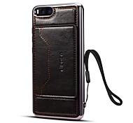 abordables -Coque Pour Xiaomi Mi Note 3 Porte Carte Avec Support Coque Couleur unie Dur faux cuir pour Mi Note 3