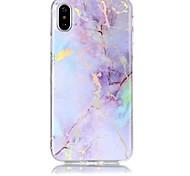 baratos -Capinha Para Apple iPhone X iPhone 8 Ultra-Fina Capa traseira Mármore Macia TPU para iPhone X iPhone 8 Plus iPhone 8 iPhone 7 Plus iPhone