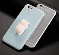 cheap -Case For Apple iPhone 7 Plus iPhone 7 Squishy DIY Back Cover Cat 3D Cartoon Soft Silicone for iPhone X iPhone 8 Plus iPhone 8 iPhone 7