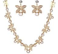 cheap -Women's Rhinestone Imitation Pearl Imitation Pearl Imitation Diamond Jewelry Set 1 Necklace Earrings - Classic Fashion Flower Stud