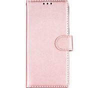 abordables -Funda Para Samsung Galaxy S8 S7 Soporte de Coche Cartera Cromado Flip Funda de Cuerpo Entero Color sólido Dura Cuero de PU para S8 Plus
