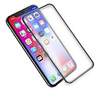 Недорогие -Защитная плёнка для экрана Apple для iPhone X Закаленное стекло 1 ед. Защитная пленка на всё устройство Антибликовое покрытие Против