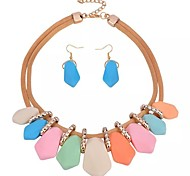 cheap -Women's Jewelry Set - Resin Sweet, Fashion Include Stud Earrings / Necklace Gold For Daily / Going out