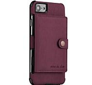 Недорогие -Кейс для Назначение Apple iPhone X iPhone 8 Кошелек Магнитный Кейс на заднюю панель Сплошной цвет Твердый Кожа PU для iPhone X iPhone 8