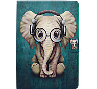 cheap -Case For Apple iPad 10.5 Card Holder with Stand Flip Pattern Auto Sleep/Wake Up Full Body Cases Elephant Hard PU Leather for iPad 4/3/2