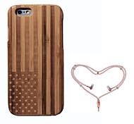 baratos -Capinha Para Apple iPhone 6 Antichoque Bandeira Rígida Bambu para iPhone 6s iPhone 6