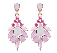 cheap -Women's Drop Crystal / Synthetic Opal / Rhinestone Imitation Diamond / Opal Drop Earrings - Elegant / Fashion Gray / Pink / Light Green