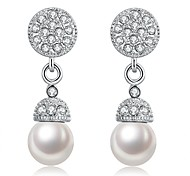 cheap -Women's Dangle Earrings With Gift Box Imitation Pearl Fashion Lovely Alloy Ball Jewelry Silver Wedding Daily Costume Jewelry