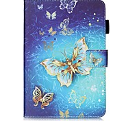 cheap -Case For Samsung Galaxy Tab S2 9.7 Card Holder Wallet with Stand Pattern Auto Sleep/Wake Up Full Body Cases Butterfly Hard PU Leather for
