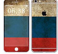baratos -1 Pça. Proteção Autocolante para Resistente a Riscos Bandeira Estampa PVC iPhone 6s Plus/6 Plus
