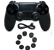 cheap -Wired Game Controller Gamepad Controller Joystick Gamepads with Silicone Cap for PS4