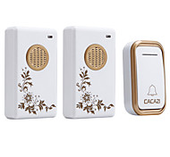 cheap -Ding dong Music One to Two Doorbell Sound adjustable Wireless Doorbell 200 Surface Mounted