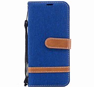 cheap -Case For Samsung A8 2018 A5(2017) Card Holder Wallet Shockproof with Stand Flip Full Body Cases Solid Color Hard Textile for A3(2017)