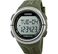 cheap -SKMEI Men's Digital Watch Japanese Alarm / Calendar / date / day / Water Resistant / Water Proof Rubber Band Casual Green