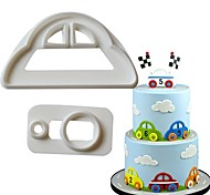 cheap -Cake Molds Car For Candy Cake Chocolate For Cupcake For Cake Plastics Stainless Steel 430 DIY Valentine's Day Birthday 3D Baking Tool
