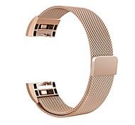 Недорогие -Для fitbit charge 2 band milanese петля из нержавеющей стали браслет умный ремешок для часов