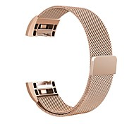 baratos -Pulseiras de Relógio para Fitbit Charge 2 Fitbit Pulseira Estilo Milanês Aço Inoxidável Tira de Pulso