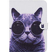 cheap -Case For Samsung Galaxy Card Holder Wallet with Stand Pattern Auto Sleep/Wake Up Full Body Cases Cat Hard PU Leather for Tab 4 10.1 Tab 4