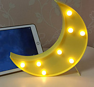 abordables -1pc Luz de noche LED Blanco Cálido Pilas AAA alimentadas Decoración