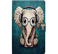 cheap -Case For Samsung Galaxy Tab A 10.1 (2016) Card Holder with Stand Flip Pattern Auto Sleep/Wake Up Full Body Cases Elephant Hard PU Leather