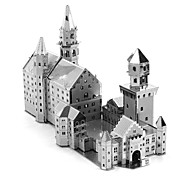 cheap -3D Puzzles Metal Puzzles Creative Focus Toy Hand-made Metal Architecture Standing Style Toy Girls' Boys' Gift