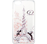 cheap -Case For Wiko U Feel Lite Pulp Fab 4G Pattern Back Cover Word / Phrase Eiffel Tower Soft TPU for Wiko U Feel Lite Wiko U Feel Wiko Sunny