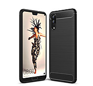 cheap -Case For Huawei P20 lite P20 Shockproof Back Cover Solid Color Soft TPU for Huawei P20 lite Huawei P20 Pro Huawei P20 P10 Plus P10 Lite