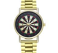 Недорогие -Муж. Жен. Кварцевый Модные часы Китайский Секундомер Нержавеющая сталь Группа Мода Золотистый