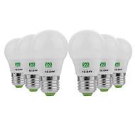 cheap -YWXLIGHT® 6pcs 3W 200-300 lm E26/E27 LED Globe Bulbs 6 leds SMD 5730 Decorative Warm White Cold White AC/DC 12-24V