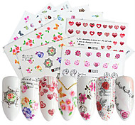 Недорогие -48 Наклейки и ленты Наклейка для ногтей Цветы Дизайн ногтей наборы Сделай-сам