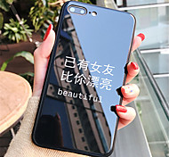 cheap -Case For Apple iPhone X iPhone 7 Plus Pattern Back Cover Word / Phrase Hard Tempered Glass for iPhone X iPhone 8 Plus iPhone 8 iPhone 7