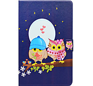 cheap -Case For Samsung Galaxy Tab E 9.6 Card Holder with Stand Flip Pattern Full Body Cases Owl Hard PU Leather for Tab E 9.6