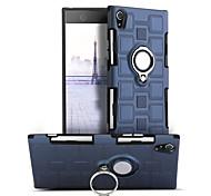 Недорогие -Кейс для Назначение Sony Xperia XA1 Защита от удара Кольца-держатели Поворот на 360° Кейс на заднюю панель Сплошной цвет Твердый ПК для