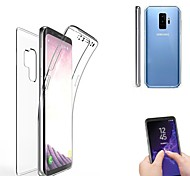 cheap -Case For Samsung Galaxy S9 S9 Plus Translucent Full Body Cases Solid Color Soft Silicone for S9 Plus S9 S8 Plus S8 S7 edge S7 S6 edge
