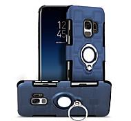 Недорогие -Кейс для Назначение SSamsung Galaxy S9 S9 Plus Защита от удара Кольца-держатели Кейс на заднюю панель Геометрический рисунок Твердый ПК