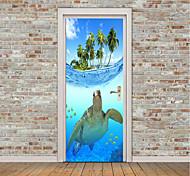 Недорогие -Животные Море Наклейки Простые наклейки 3D наклейки Декоративные наклейки на стены Фото наклейки Напольные наклейки Дверные наклейки,